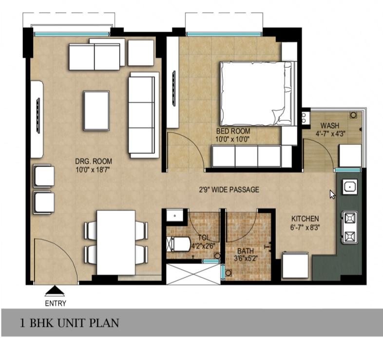 Adani shantigram aangan a ideal destination for living for 1 bhk floor plan